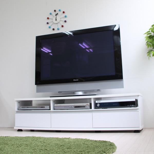 送料無料 テレビ台 140cm幅 TV台 ロータイプ シンプル アルミ取っ手 ホワイト 収納 ローボード リビングボード 木製 おしゃれ TVボード AVボード テレビラック TV台 TVボード スタイリッシュ モダン 北欧