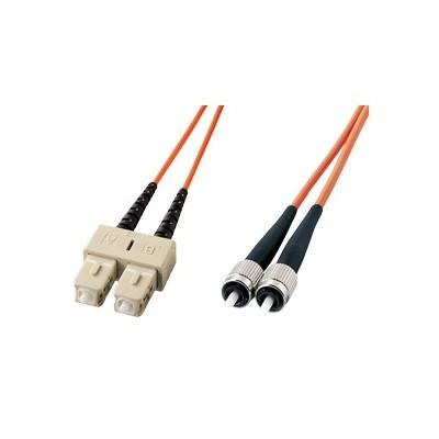 光ファイバケーブル SCコネクタ×2 開店祝い FCコネクタ×2 コア径10ミクロン 今だけ限定15%OFFクーポン発行中 HKB-CF1W-3 2芯シングルモード 3m
