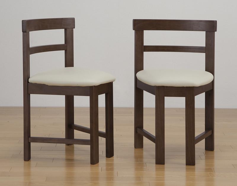 完成品 ダイニングチェア 2脚組 2脚セット いす 椅子 チェアー 食卓椅子 ダイニングチェアー 合成皮革 木製 モダン 北欧