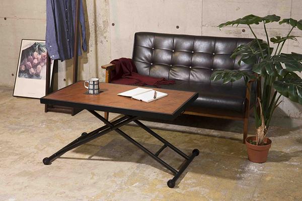 昇降式リビングテーブル 昇降テーブル 机 作業台 キャスター付き センターテーブル ローテーブル リビングテーブル ダイニングテーブル リフティングテーブル 西海岸 北欧 おしゃれ