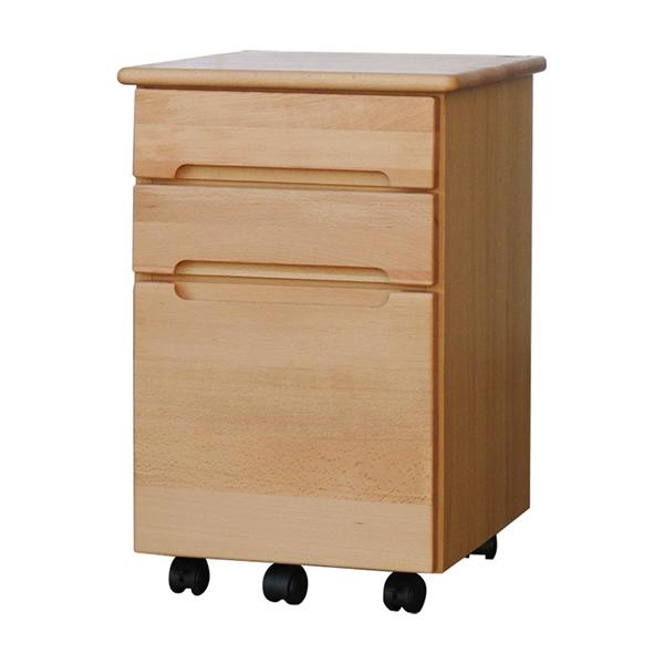 送料無料 ワゴン ナチュラル サイドチェスト サイドワゴン キャスター付き 木製 収納 デスクワゴン オフィス サイドテーブル おしゃれ 北欧 モダン ミッドセンチュリー