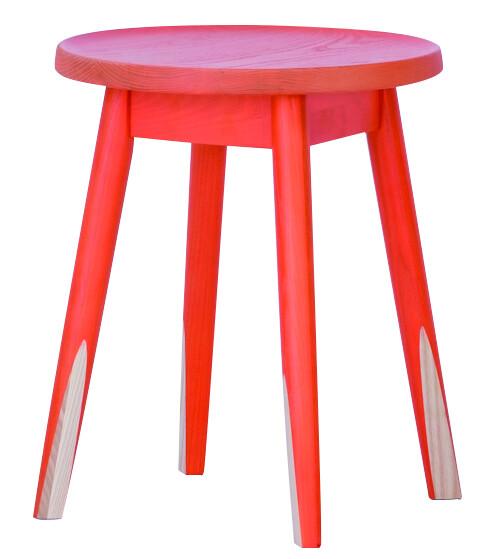 送料無料 スツール オレンジ 1脚 腰掛け いす 椅子 ローチェアー 玄関 寝室 リビング キッチン コンパクト おしゃれ カラフル モダン 北欧 ミッドセンチュリー