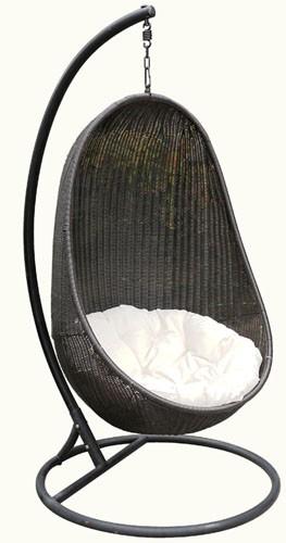 送料無料 ハンギングチェアー ラタン家具 ハンギングチェア 楕円型 たまご型 吊り椅子 1人掛け 椅子 イス チェアー リゾート スイングチェア リラックスチェア ゆりかご おしゃれ