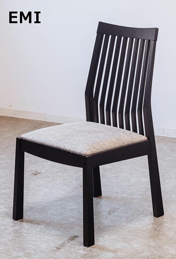 送料無料 チェアー BK ダイニングチェアー 食卓椅子 ブラック イス 椅子 リビング 一人掛け 1人用 木製 ファブリック おしゃれ 北欧 モダン