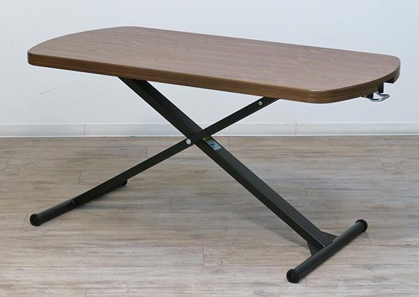 送料無料 天然木 昇降テーブル キャスター付き ブラウン ローテーブル センターテーブル リビングテーブル 作業台 机 ダイニングテーブル おしゃれ 北欧 シンプル 高級感