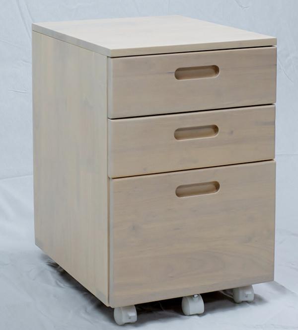 送料無料 デスクワゴン 単品 ホワイト スリム 木製 サイドワゴン キャスター付き オフィスワゴン チェスト 収納 引き出し おしゃれ 北欧