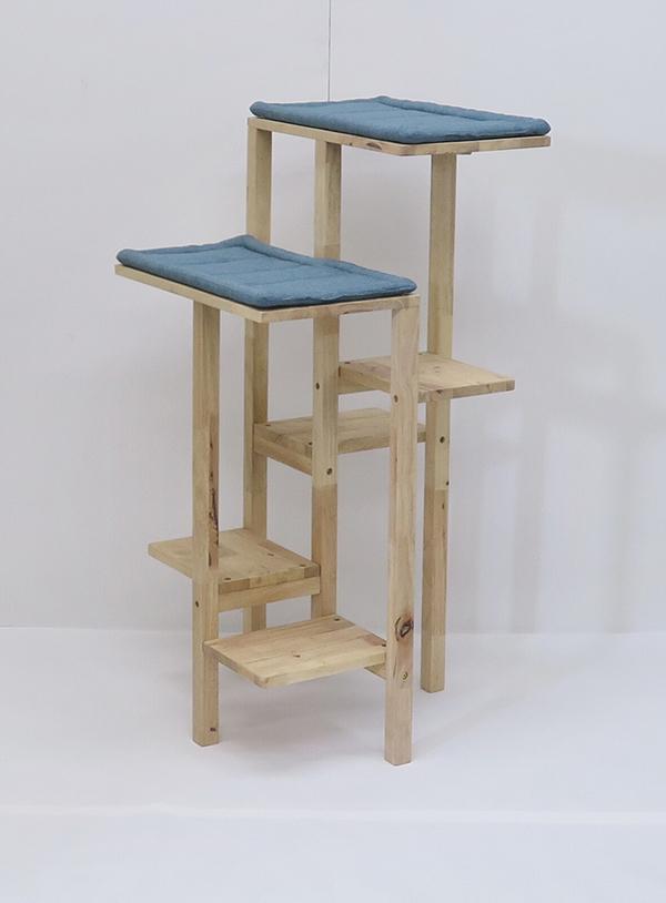 送料無料 キャットタワー 据え置き コンパクト 木製 猫タワー ネコタワー 室内用 おしゃれ