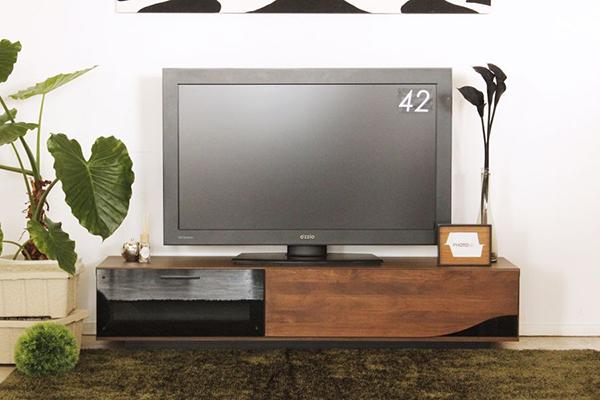 日本製 完成品 幅150cm ローボード ブラウン アルダー無垢 木製 引き出し 収納 テレビボード リビングボード テレビ台 TVボード AVボード AVラック TV台 テレビラック 北欧 モダン シンプル おしゃれ 高級感
