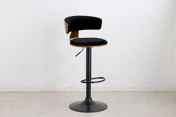 ポールバーチェア ブラック カウンターチェアー ハイチェアー 昇降 椅子 イス いす 食卓チェアー カフェ バー 北欧 西海岸 ミッドセンチュリー レトロ モダン おしゃれ