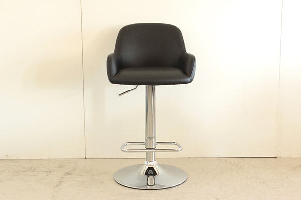 バーチェアー ブラック 合成皮革 カウンターチェアー ハイチェアー 昇降 椅子 イス いす 食卓チェアー 背もたれ付き カフェ バー 北欧 西海岸 ミッドセンチュリー レトロ モダン おしゃれ