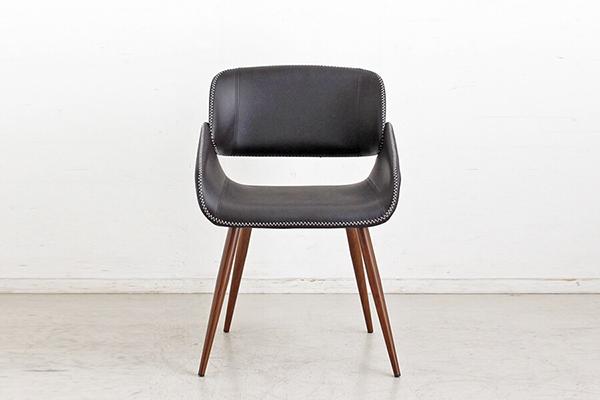 チェア ダイニングチェアー 食卓チェア 曲木 いす 椅子 合成皮革 コンパクト ミッドセンチュリー シンプルモダン シック レトロ おしゃれ デザイン 高級感 ブラウン