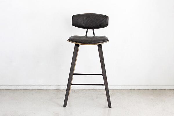 バーチェア 合成皮革 カウンターチェアー ハイチェアー 椅子 イス いす 食卓チェアー 背もたれ付き カフェ バー 北欧 西海岸 ミッドセンチュリー レトロ モダン おしゃれ