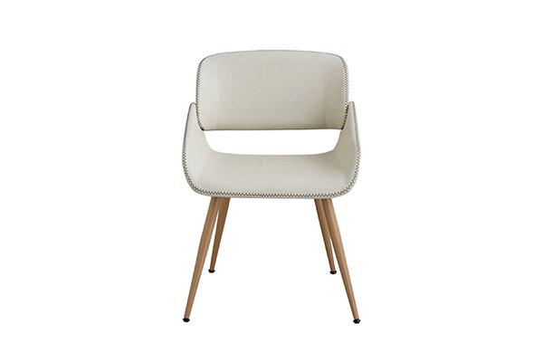 チェア ダイニングチェアー 食卓チェア 曲木 いす 椅子 合成皮革 コンパクト ミッドセンチュリー シンプルモダン シック レトロ おしゃれ デザイン 高級感 ホワイト