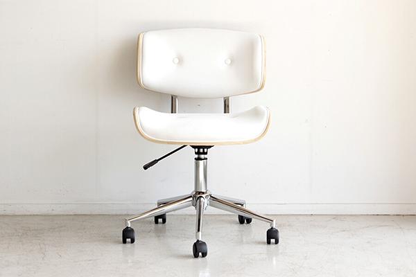 ワークチェア ホワイト 合成皮革 チェアー デスク用チェア いす 椅子 コンパクト キャスター ワークチェアー パソコンチェア デスクチェア PCチェア OAチェア 学習椅子 いす 椅子 おしゃれ 北欧 モダン ミッドセンチュリー 高級感