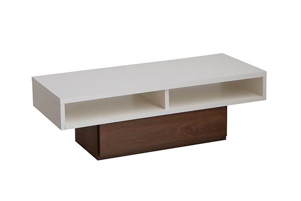 リビングテーブル センターテーブル 幅120cm 木製 引き出し 収納 ローテーブル アルダー無垢 机 作業台 カフェ 北欧 おしゃれ ラグジュアリー 高級感