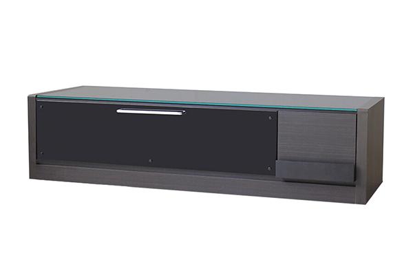 日本製 ローボード ブラック 木製 引き出し 収納 テレビボード リビングボード テレビ台 TVボード AVボード AVラック TV台 テレビラック 北欧 モダン シンプル スタイリッシュ おしゃれ 高級感