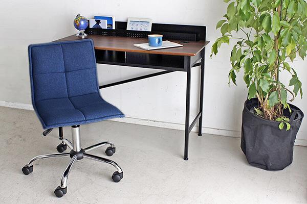 オフィスチェア チェアー デスク用チェア いす 椅子 コンパクト ブルー キャスター ワークチェアー パソコンチェア デスクチェア PCチェア OAチェア 学習椅子 いす 椅子 おしゃれ 大人シック 北欧 モダン ミッドセンチュリー レトロ 高級感