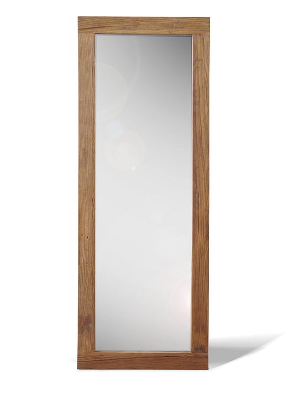 スタンドミラー (60cm×160cm) アルミラー 古材 オールドニルム アンティーク調 ヴィンテージ 木製 立て掛け 鏡 姿見 ジャンボミラー 男前インテリア ブルックリン おしゃれ