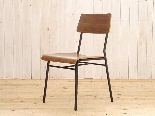 ダイニングチェア 2脚セット ウォールナット 木目 食卓椅子 イス いす おしゃれ 1人用 1人掛け スチール脚 モント アイアン リビング デザイン 北欧 モダン 西海岸 インダストリアル