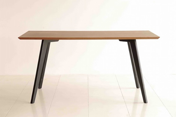 テーブル 単品 ダイニングテーブル 幅150cm ビーチ無垢材脚 机 食卓テーブル 6人掛け 6人用 ウォールナット 作業台 カフェ 北欧 西海岸 ナチュラル ブルックリン 男前インテリア おしゃれ 高級感 フルス150