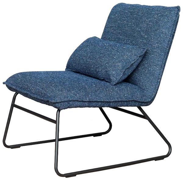 パーソナルチェア おしゃれ 1人掛け 1人用 リビングチェアー アメリカンアンティーク ファブリック ベクト ネイビー デザイン 椅子 イス いす ミッドセンチュリー モダン シンプル 西海岸