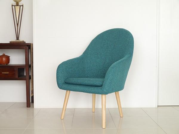 1Pソファ ブルー コンパクト ソファー 1人掛け 1人用 かわいい ダイニングソファー リビング ファブリック リタ イス いす 椅子 おしゃれ 北欧 モダン シンプル