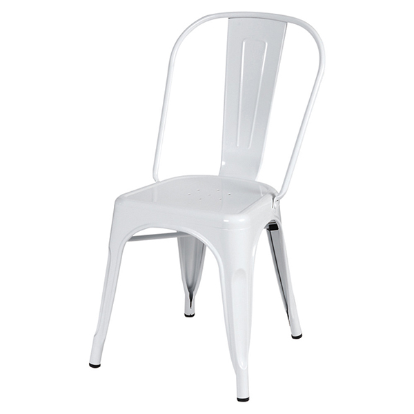 椅子 カフェチェア 2脚セット ホワイト スチール ダイニングチェアー リビング キッチン カフェ イス いす ブルックリン インダストリアル 西海岸 男前インテリア おしゃれ
