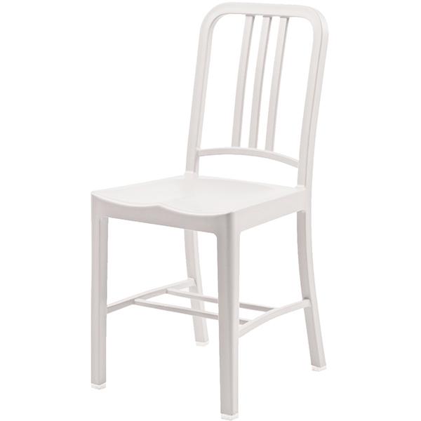 おしゃれ 椅子 カフェチェア 単品 ホワイト ガーデンチェア 野外 ダイニングチェア リビング キッチン カフェ イス いす ブルックリン インダストリアル 西海岸 男前インテリア