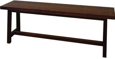 ダイニングベンチ 単品 木製 幅120cm ウッドファニチャー クリア塗装 ウッドベンチ 2人掛け いす 椅子 長椅子 ベンチチェアー チェア おしゃれ ブルックリン 西海岸 男前インテリア インダストリアル
