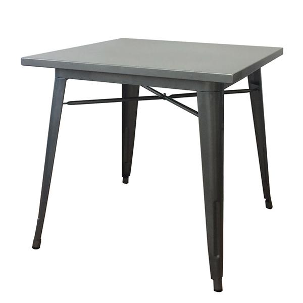 ダイニングテーブル 単品 カフェテーブル ダイニング テーブル メタルテーブル 2人掛け テーブル 幅80cm ダイニング 机 作業台 2人 食卓テーブル アイアン インダストリアル ブルックリン 西海岸 男前インテリア アンティーク おしゃれ