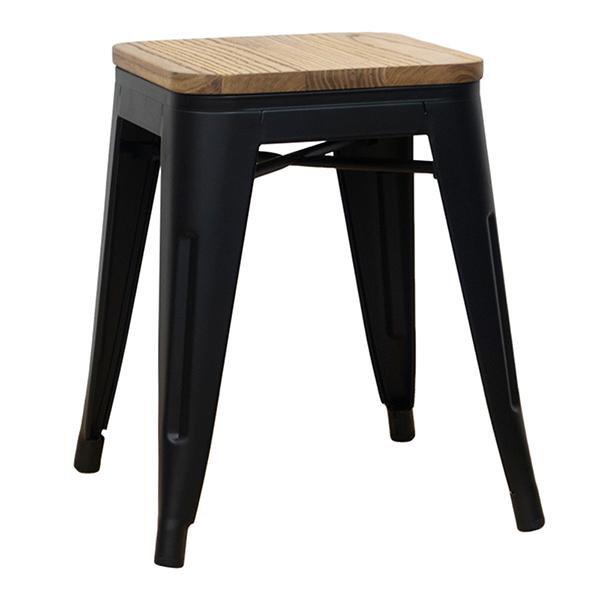 メタルスツール 2脚セット スタッキング ダイニングチェアー スチール 木製 リビング キッチン 腰掛け カフェ 椅子 いす ブルックリン インダストリアル 西海岸 男前インテリア おしゃれ