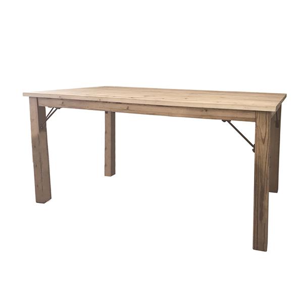 古材 ダイニングテーブル 単品 4人掛け テーブル 幅140cm ダイニング 机 作業台 4人 食卓テーブル ナチュラル ブルックリン 西海岸 男前インテリア アンティーク おしゃれ