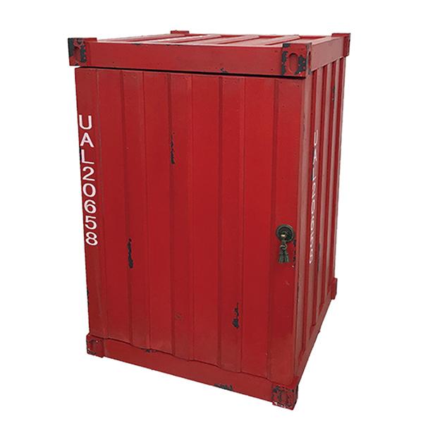 コンテナ型ボックス レッド コンテナボックス 収納ボックス トランク収納 インダストリアル アンティーク調 収納家具 西海岸 ブルックリン 男前インテリア おしゃれ
