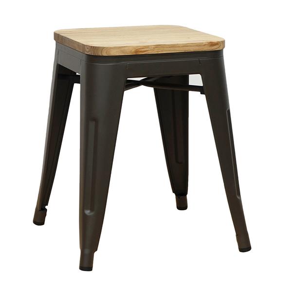 メタルスツール 2脚セット スタッキング ダイニングチェアー スチール リビング キッチン 腰掛け カフェ 椅子 いす ブルックリン インダストリアル 西海岸 男前インテリア おしゃれ