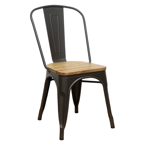 メタルチェア 4脚セット スタッキング ダイニングチェアー リビング カフェ 椅子 いす ブルックリン インダストリアル 西海岸 男前インテリア おしゃれ