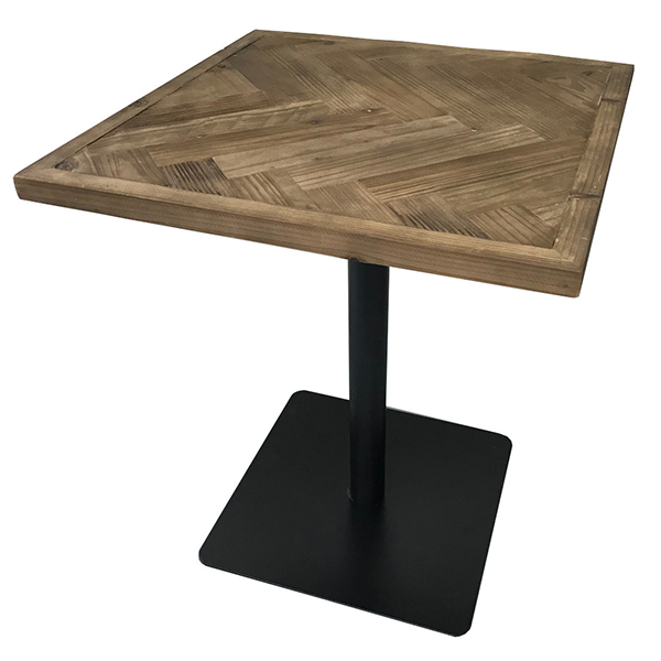 古材 カフェテーブル ヘリンボーン ブルックリン カフェテイスト カウンターテーブル サイドテーブル コーヒーテーブル ダイニングテーブル 木製 ブルックリン 西海岸 男前インテリア おしゃれ