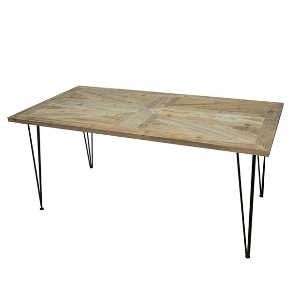 古材 ダイニングテーブル 単品 ユニオンジャック柄 幅160cm アイアン 6人掛け テーブル ダイニング 机 作業台 6人 食卓テーブル ブルックリン 西海岸 男前インテリア アンティーク おしゃれ