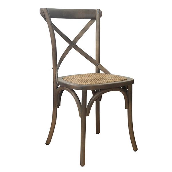 クロスバックチェア単品 籐 ラタン クロス/ブラウン ウッド 木製 エイジング ダイニングチェアー 椅子 いす ダイニングチェア 食卓椅子 北欧 カフェ風 ミッドセンチュリー カントリー ナチュラル おしゃれ