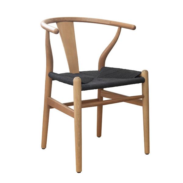 ワイエーチェア単品 ブラック ダイニングチェアー 椅子 いす ダイニングチェア 食卓椅子 ペーパーコード ウッド 木製 リプロダクト 北欧 カフェ風 ミッドセンチュリー カントリー ナチュラル おしゃれ