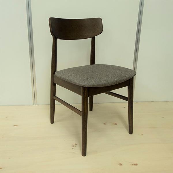ダイニングチェア単品 グレー 木製 ファブリック ダイニングチェアー 椅子 いす ダイニング チェア 食卓椅子 北欧 カフェ風 ミッドセンチュリー カントリー ナチュラル おしゃれ ラバーウッド 北欧 ウォールナット色