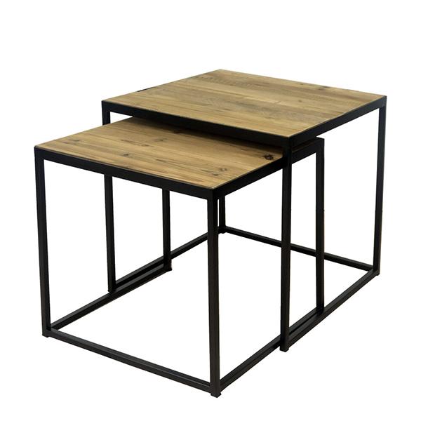 古材 ネストテーブル ローテーブル コンパクト センターテーブル コーヒーテーブル リビングテーブル ブルックリン 西海岸 インダストリアル 男前インテリア おしゃれ