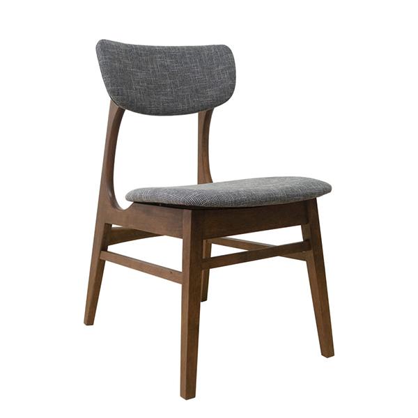 ダイニングチェア単品 木製 ファブリックラバーウッド 北欧 ウォールナット色 ダイニングチェアー 椅子 いす ダイニング チェア 食卓椅子 北欧 カフェ風 ミッドセンチュリー カントリー ナチュラル おしゃれ