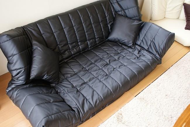 国産 低反発マルチソファ ウェーブ レザー合皮 リクライニング クッション コンパクト ソファー 2人掛け 2人用 フロアソファー ローソファ ロータイプ おしゃれ シンプル 日本製