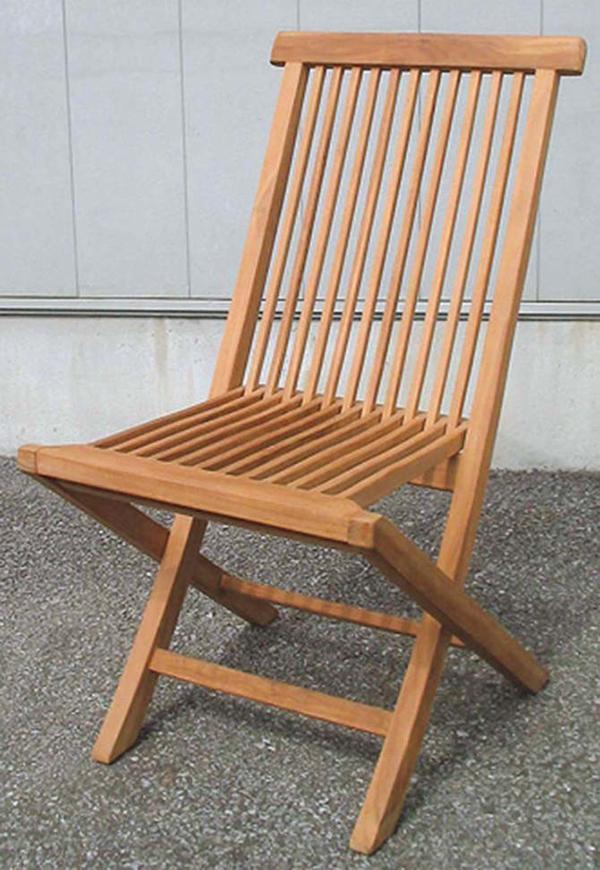 折り畳みチェア 折りたたみ 木製 チーク ガーデンチェアー 1人掛け いす 椅子 ひとりがけ チェア テラス カフェ おしゃれ モダン レトロ 高級感