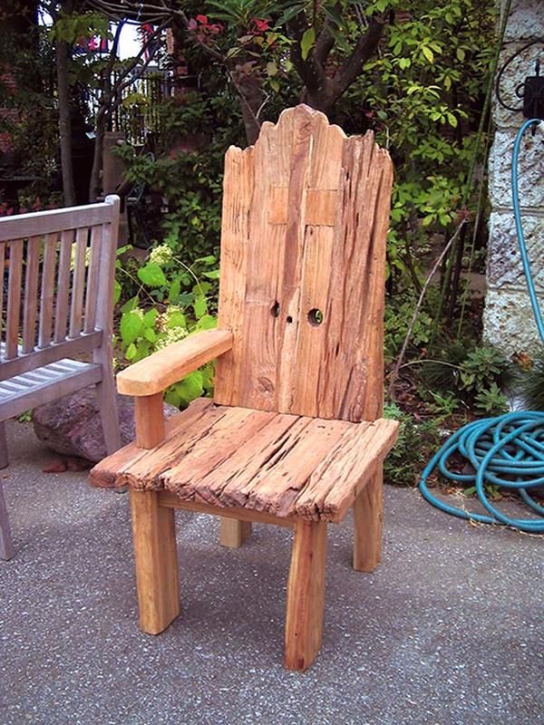 流木チェアIN 木製 チーク ガーデンチェアー 1人掛け いす 椅子 ひとりがけ チェア テラス カフェ おしゃれ モダン レトロ 高級感