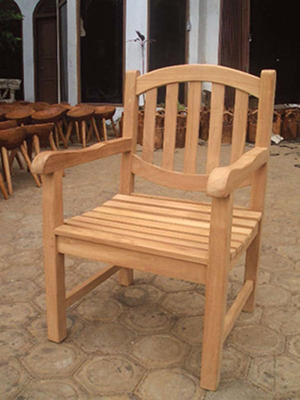 オファルチェア 木製 チーク ガーデンチェアー 1人掛け いす 椅子 ひとりがけ チェア テラス カフェ おしゃれ モダン レトロ 高級感