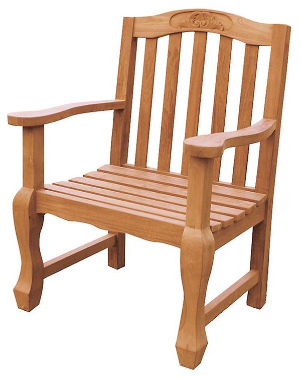 手作りチェア 木製 チーク ガーデンチェアー 1人掛け いす 椅子 ひとりがけ チェア テラス カフェ おしゃれ モダン レトロ 高級感