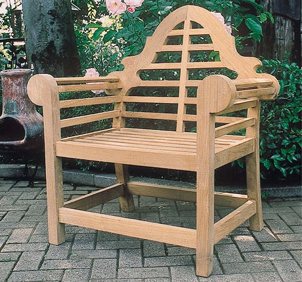 貴族チェア 木製 チーク ガーデンチェアー 1人掛け いす 椅子 ひとりがけ チェア テラス カフェ おしゃれ モダン レトロ 高級感