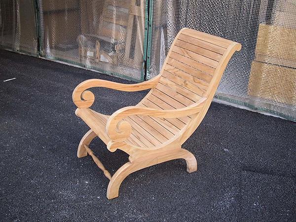 カンフォタブルチェア 木製 チーク ガーデンチェアー 1人掛け いす 椅子 ひとりがけ チェア テラス カフェ おしゃれ モダン レトロ 高級感