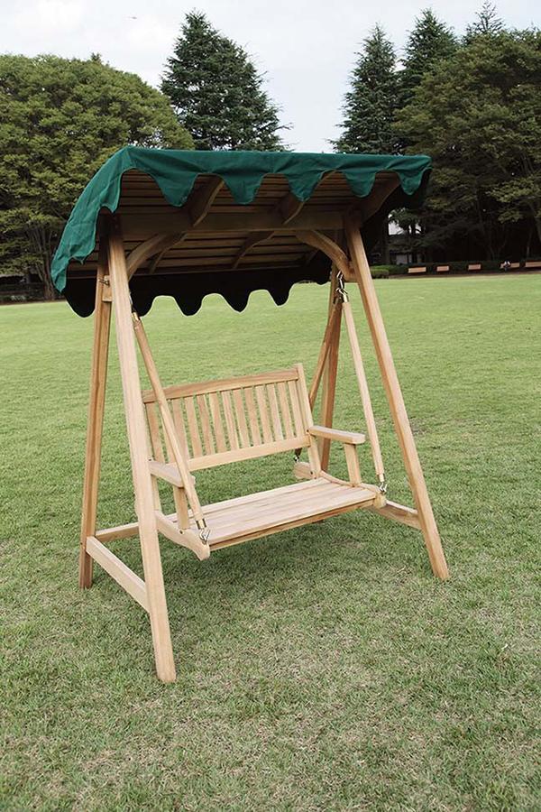 ミニスイングラブベンチ ブランコ 木製 ガーデンチェアー 2人乗り 屋外 おしゃれ